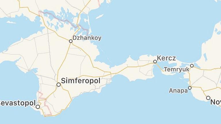 В Apple Maps липсва граница между Крим и Русия