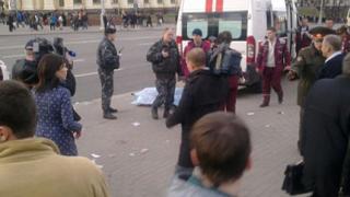 Атентат взриви метростанция в Минск