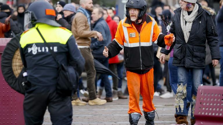 Над 100 задържани след протеста в Амстердам