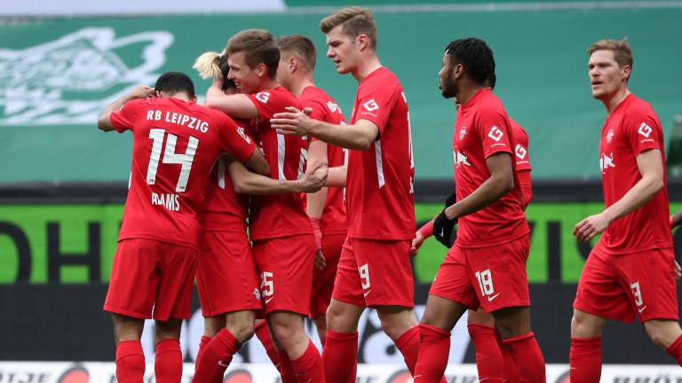 Лайпциг записа важна победа в мач от 28-ия кръг на
