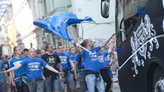 """Хиляди сини изпълниха столицата за 100-годишнината на """"Левски"""""""