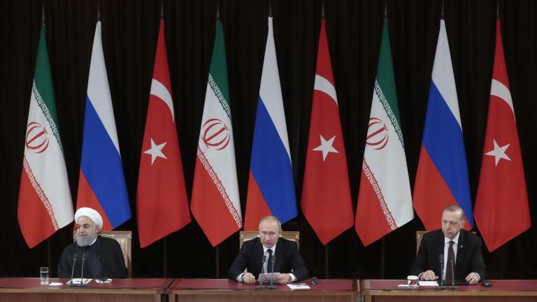 Путин към Ердоган и Рохани: Трябва да смажем екстремистите в Идлиб