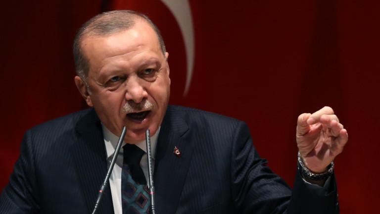 Турският президент Реджеп Ердоган обясни на пресконференция предавана от