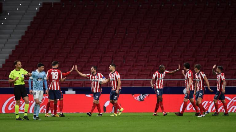 Атлетико (Мадрид) - Селта, 2:2 инфарктен завършек на мача