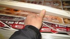 Митничари задържаха 14 тона картонени опаковки за цигари