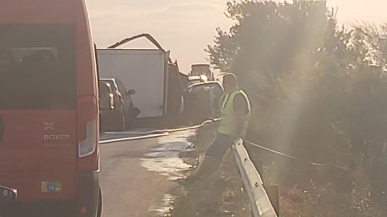 По повод тежкия пътно-транспортен инцидент при км 163 на автомагистрала