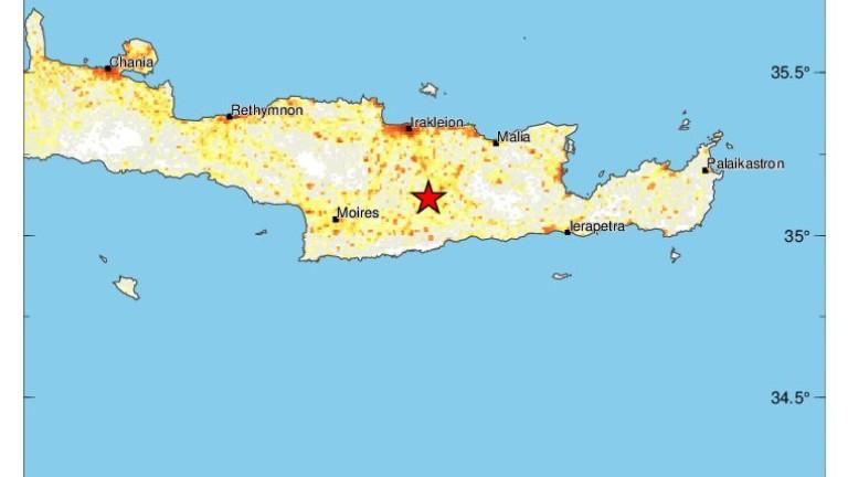 Земетресение с магнитуд 6 по скалата на Рихтер разтърси гръцкия