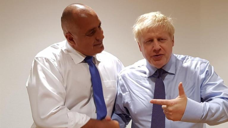 Премиерът Борисов: Борис Джонсън има най-добри чувства към нашата страна