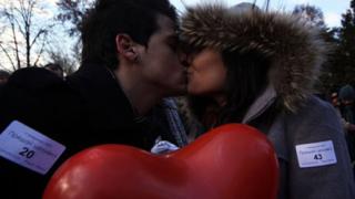 Броят на целувките показва силата на любова