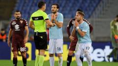 Феновете на Лацио заведоха дело срещу съдията от мача с Торино