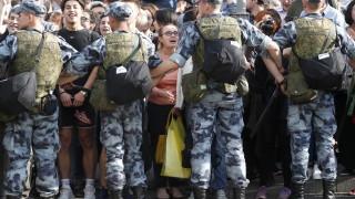 Хиляди демонстрират в Москва с призив за освобождаване на активисти