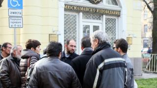 Мюсюлмани и полицаи пазят мюфтийството