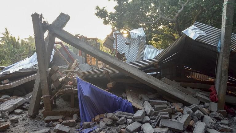 Ново изключително силно земетресение на индонезийския остров Ломбок. Към момента