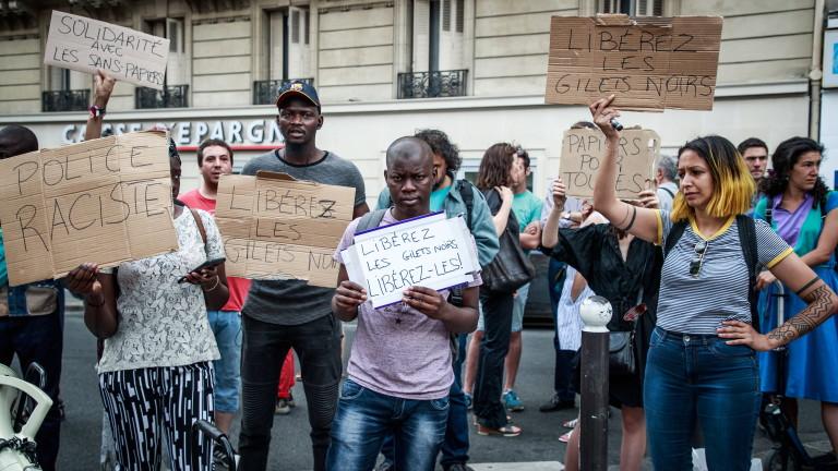 Парижката полиция задържа в неделя 175 душина бул.