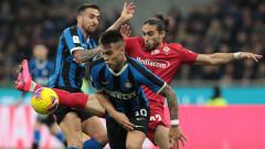 Интер на полуфинал за Копа Италия след победа над Фиорентина