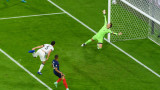 Франция - Германия 1:0 (Развой на срещата по минути)