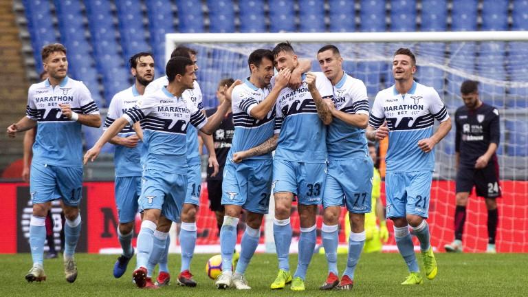 Лацио не срещна проблеми срещу Каляри и се настани в Топ 4