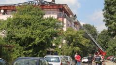 """4 екипа гасят пожар в столичния """"Студентски град"""""""