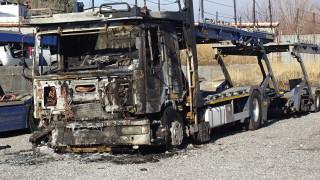 Изгоряха 3 автовоза в Дупница