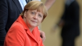 СНИМКА: Меркел в съблекалнята на Германия