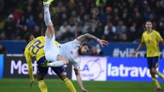 Швеция - Испания 1:0, гол на Берг
