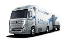 Новият камион на Hyundai на водородни клетки превзема Швейцарските Апли