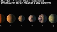 NASA откри 7 нови планети, на които може да има живот